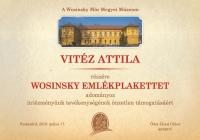 2019 Vitéz Attila plakett