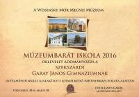 Múzeumbarát iskola 2016