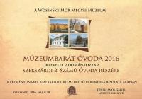 Múzeumbarát óvoda 2016