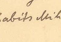 Babits aláírása