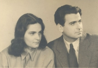 Feleségével, Polcz Alaine-nel 1949 körül