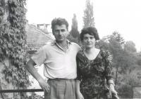 Feleségével, Polcz Alaine-nel az 1950-es években