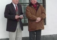 Dr. Gaál Attila, a Wosinsky Mór Megyei Múzeum igazgatója és Pomogáts Béla irodalomtörténész (2003.11.26.)