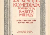 Dante Isteni Színjátékának 24 órás felolvasása 2004. április 30-án, az EU-hoz való csatlakozás éjszakáján