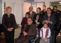 A költő szülei: Baka István és Baka Istvánné, Mária néni, balra Polcz Alaine, Mészöly Miklós özvegye (2005.04.11.)