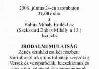 Meghívó az Irodalmi mulatságra (2006.06.24.)