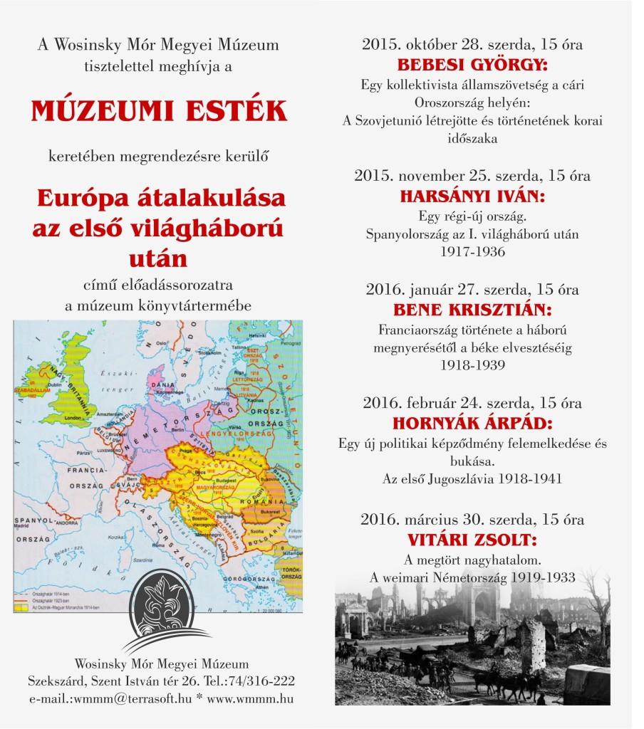 Múzeumi esték előadás 2015-16