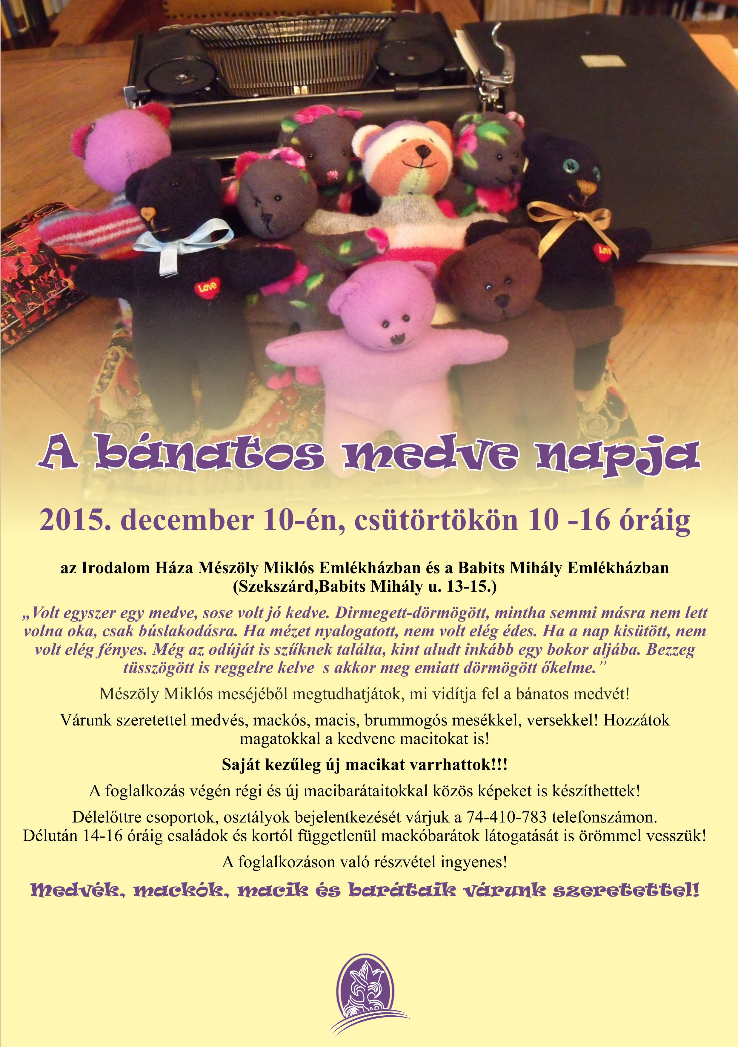 bánatos medve2015